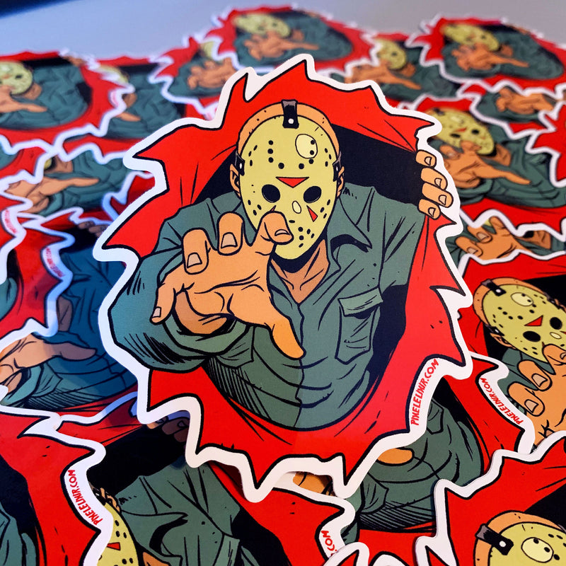 "Dimensions of Fear - Crystal Lake 4"" Vinyl Sticker"