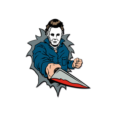 Dimensions of Fear - Haddonfield Enamel Pin - Dystopian Designs