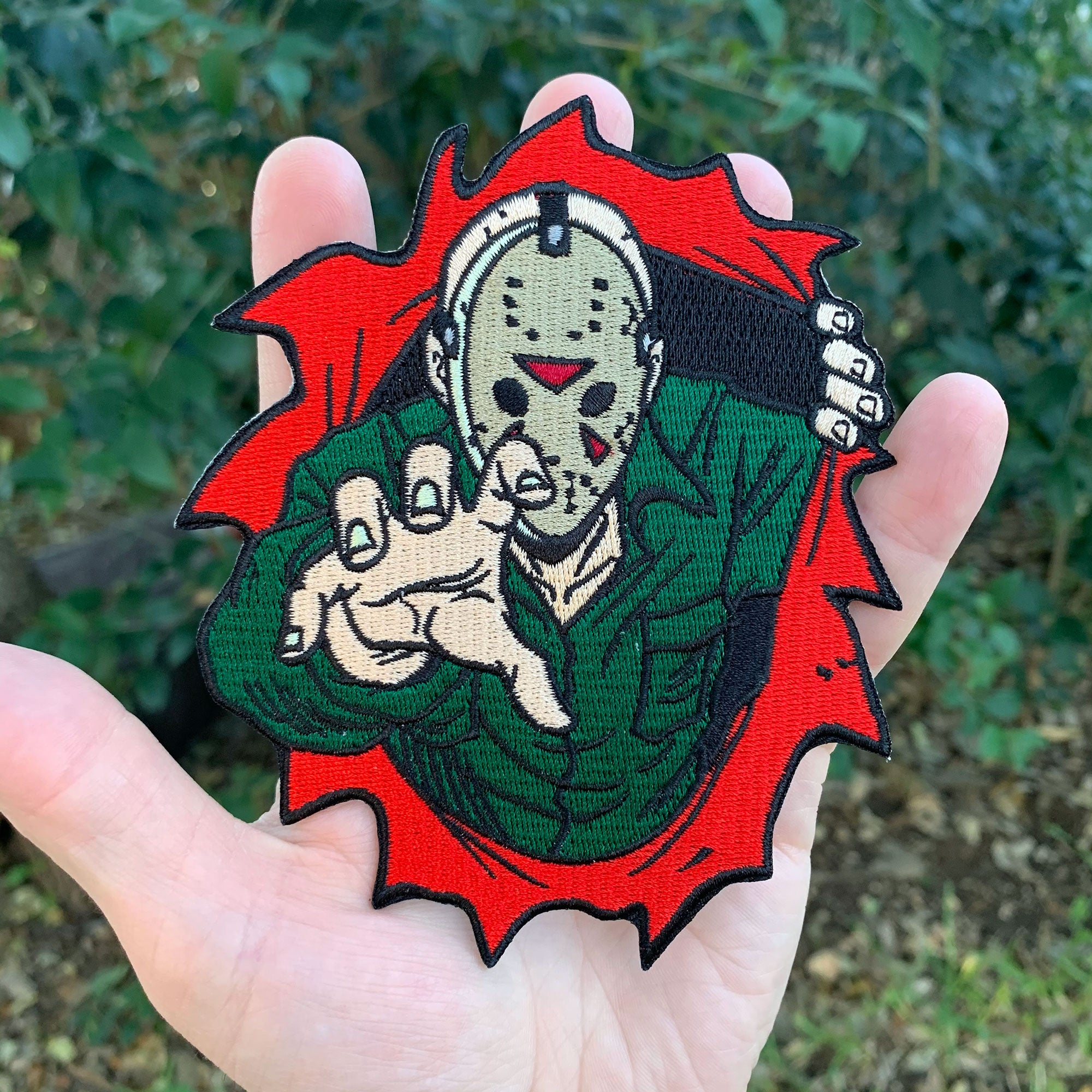 "Dimensions of Fear - Crystal Lake 5"" Jumbo Embroidered Patch"