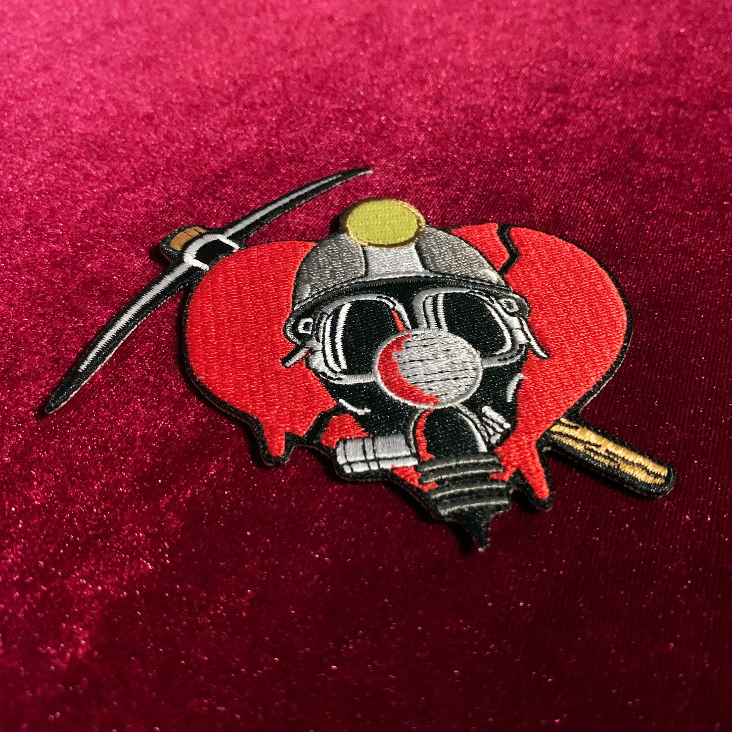 "Deadly Valentine 4"" Embroidered Patch"
