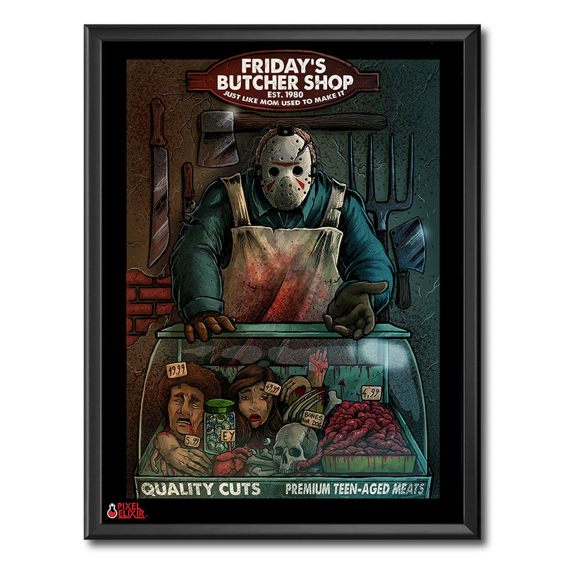 Friday's Butcher Shop Art Print - Dystopian Designs