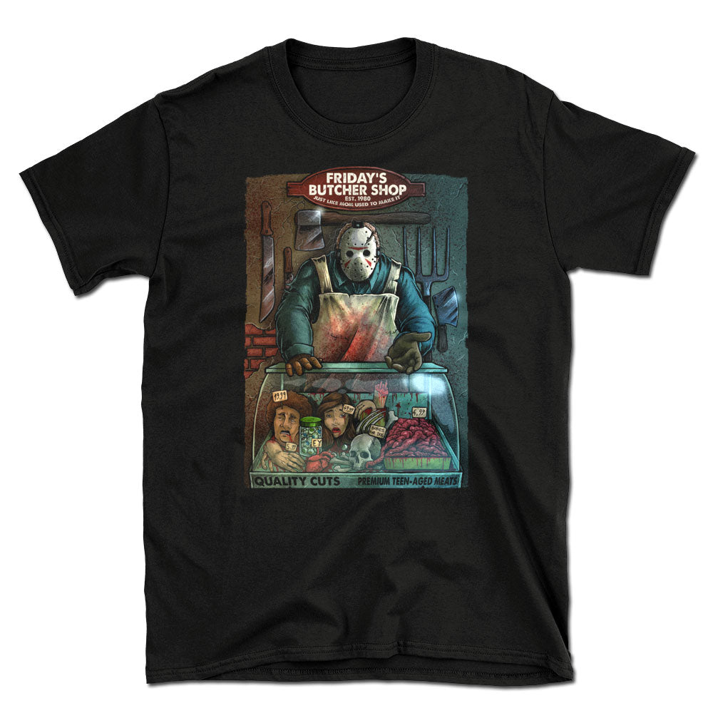 Friday's Butcher Shop T-Shirt - Dystopian Designs