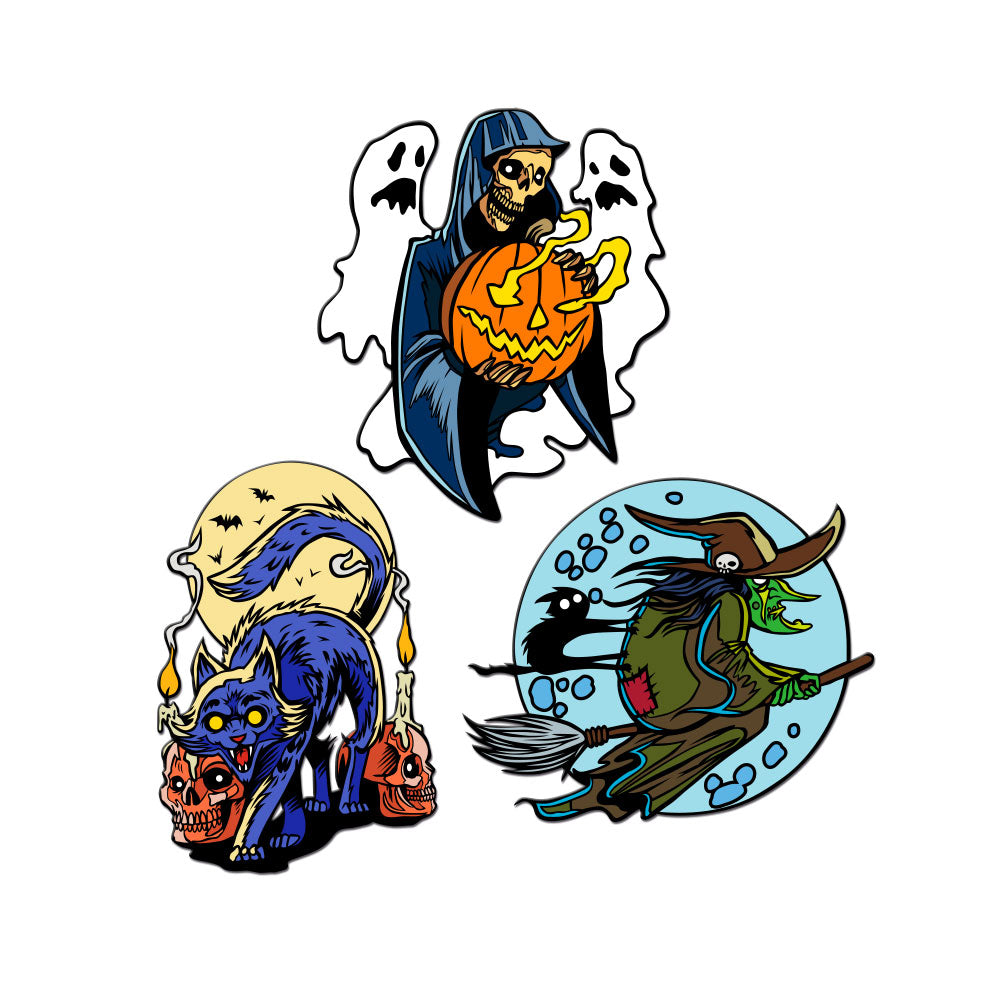 Frightful Folklore Enamel Pins - Set of 3
