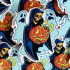 "Frightful Folklore Halloween Reaper 4"" Vinyl Sticker - Dystopian Designs"