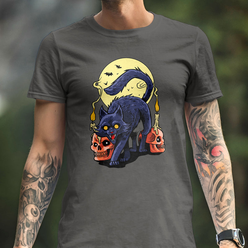 Frightful Folklore Spooky Cat T-Shirt - Dystopian Designs
