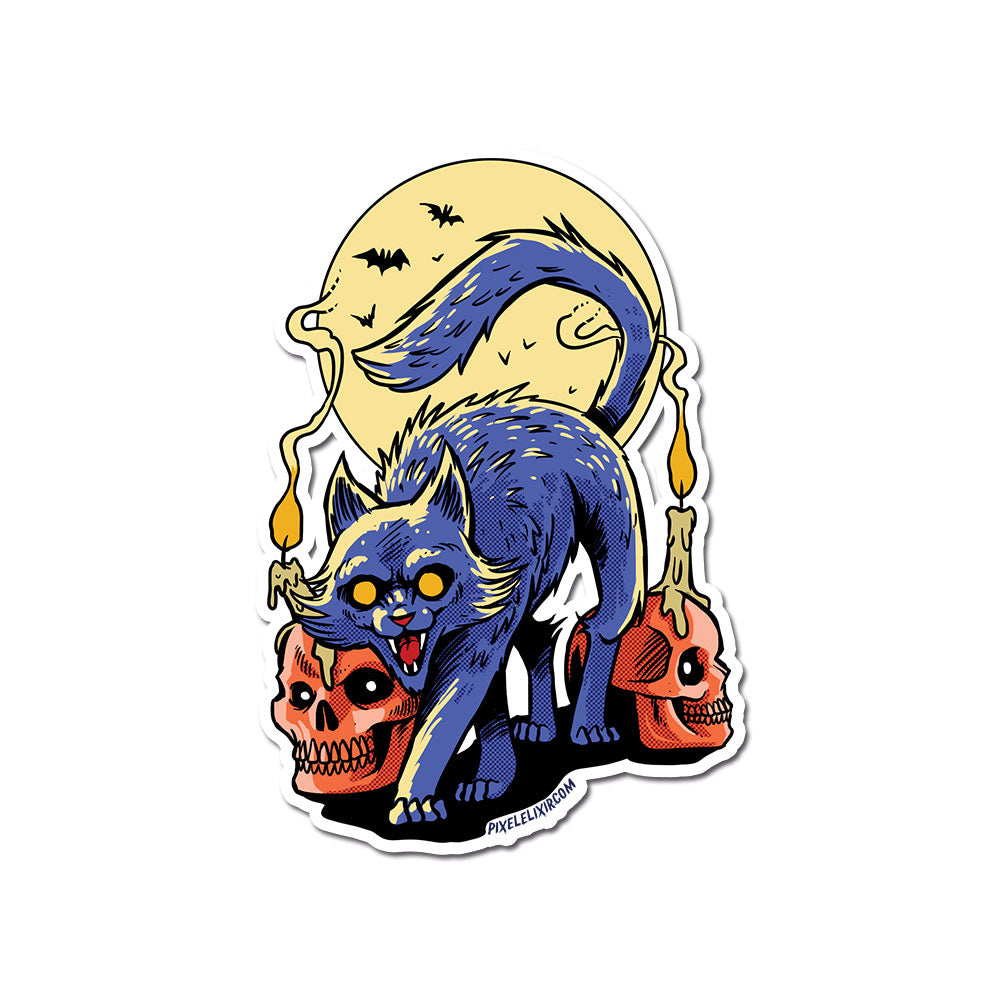 "Frightful Folklore Spooky Cat 4"" Vinyl Sticker"