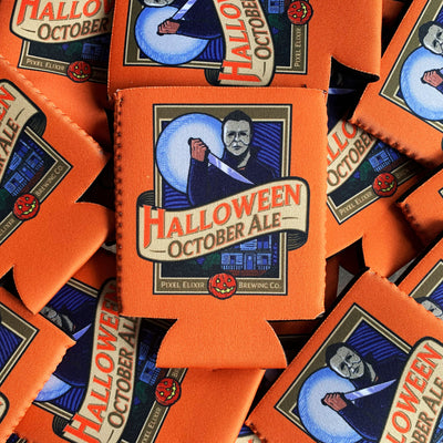 Halloween October Ale Koozie - Dystopian Designs