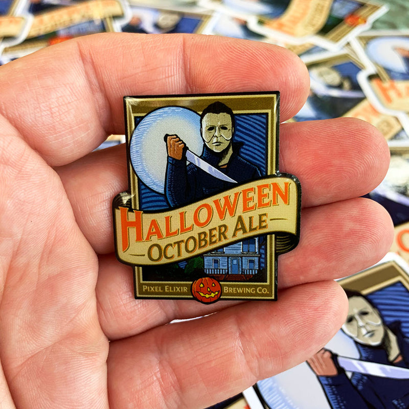Halloween October Ale Pin/Magnet - Dystopian Designs