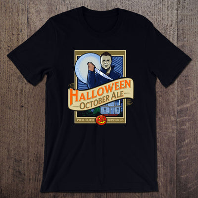Halloween October Ale T-Shirt - Midnight Black - Dystopian Designs