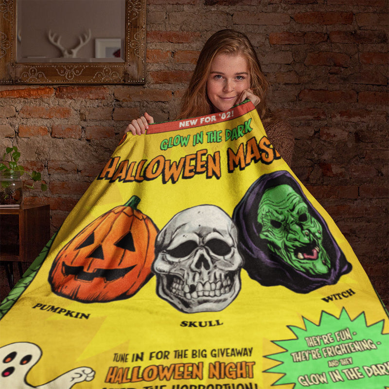 Happy, Happy Halloween Throw Blanket