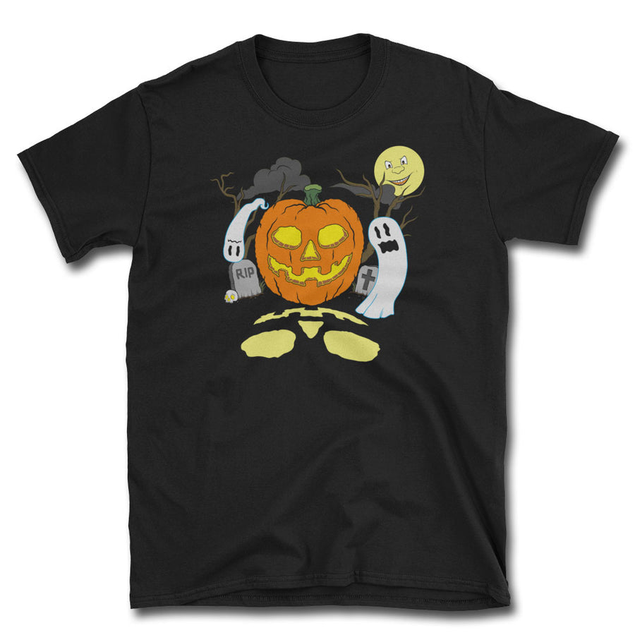 Haunted Halloween T-Shirt - Dystopian Designs