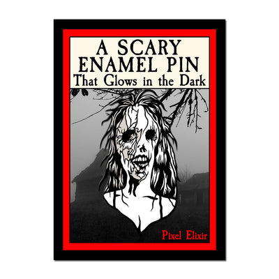 Haunted House Enamel Pin - Dystopian Designs
