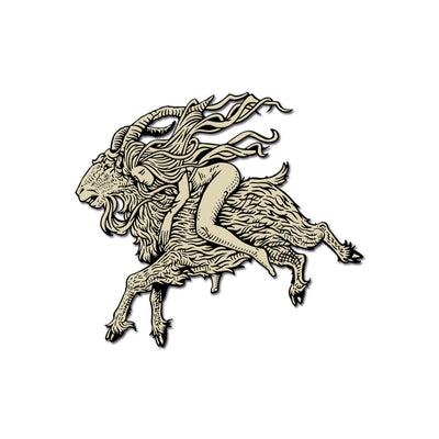 "Häxan ""Flying"" Hard Enamel Pin - Dystopian Designs"