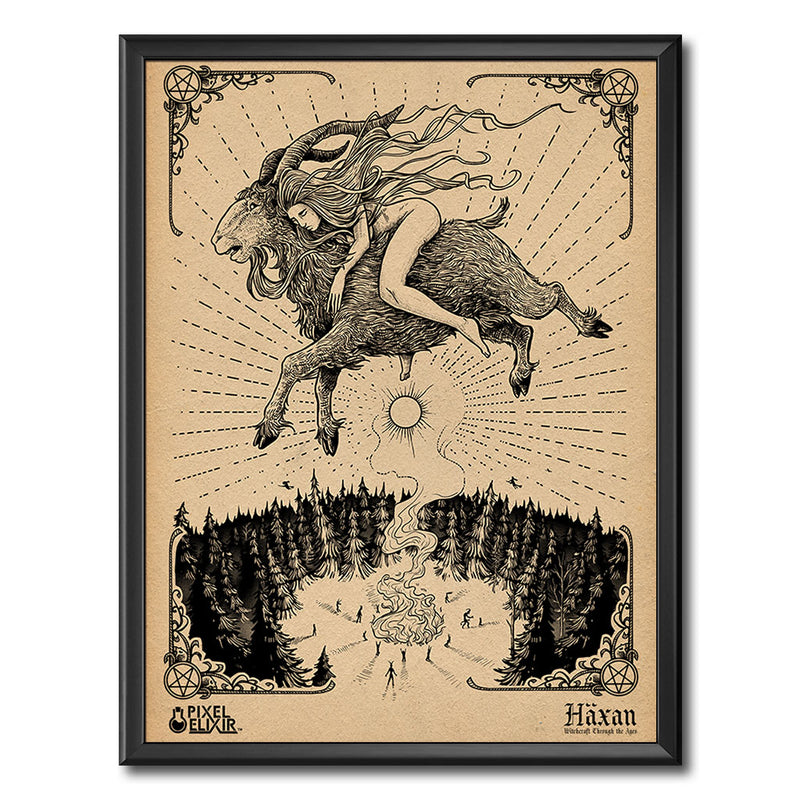 "Häxan ""Flying"" Art Print - Dystopian Designs"