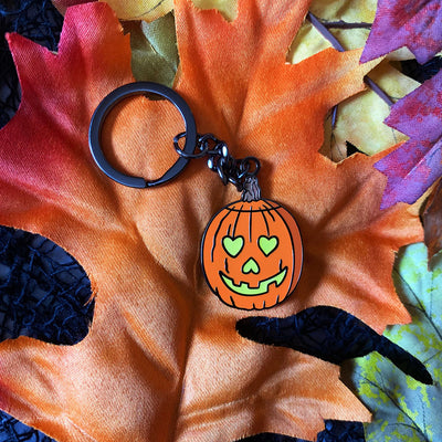 I Love Halloween Keychain - Dystopian Designs