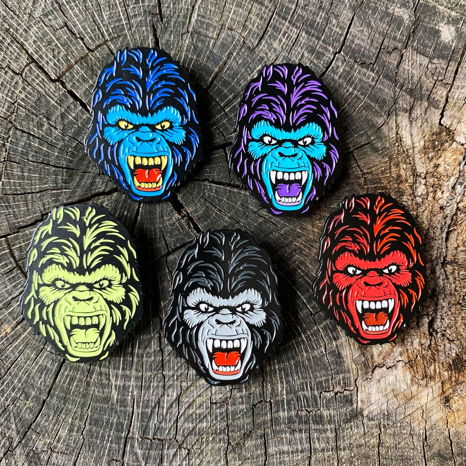 Kaiju 20XX Enamel Pin - Set of 5