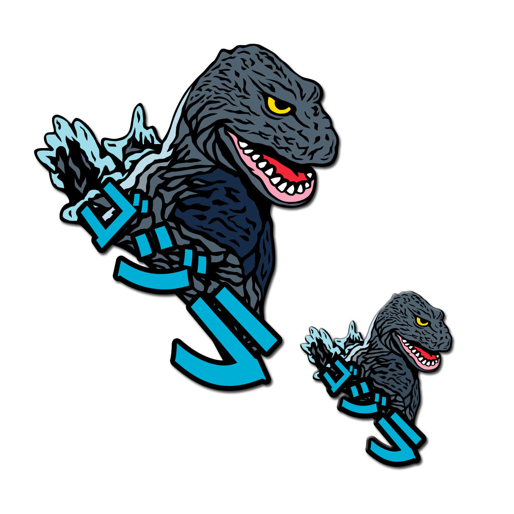 Kaiju '62 Pin & Patch Bundle - Dystopian Designs
