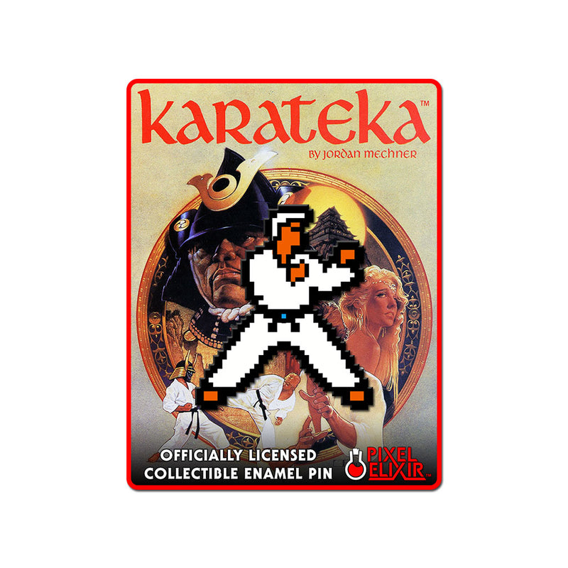 Karateka Enamel Pin - Hero - Dystopian Designs