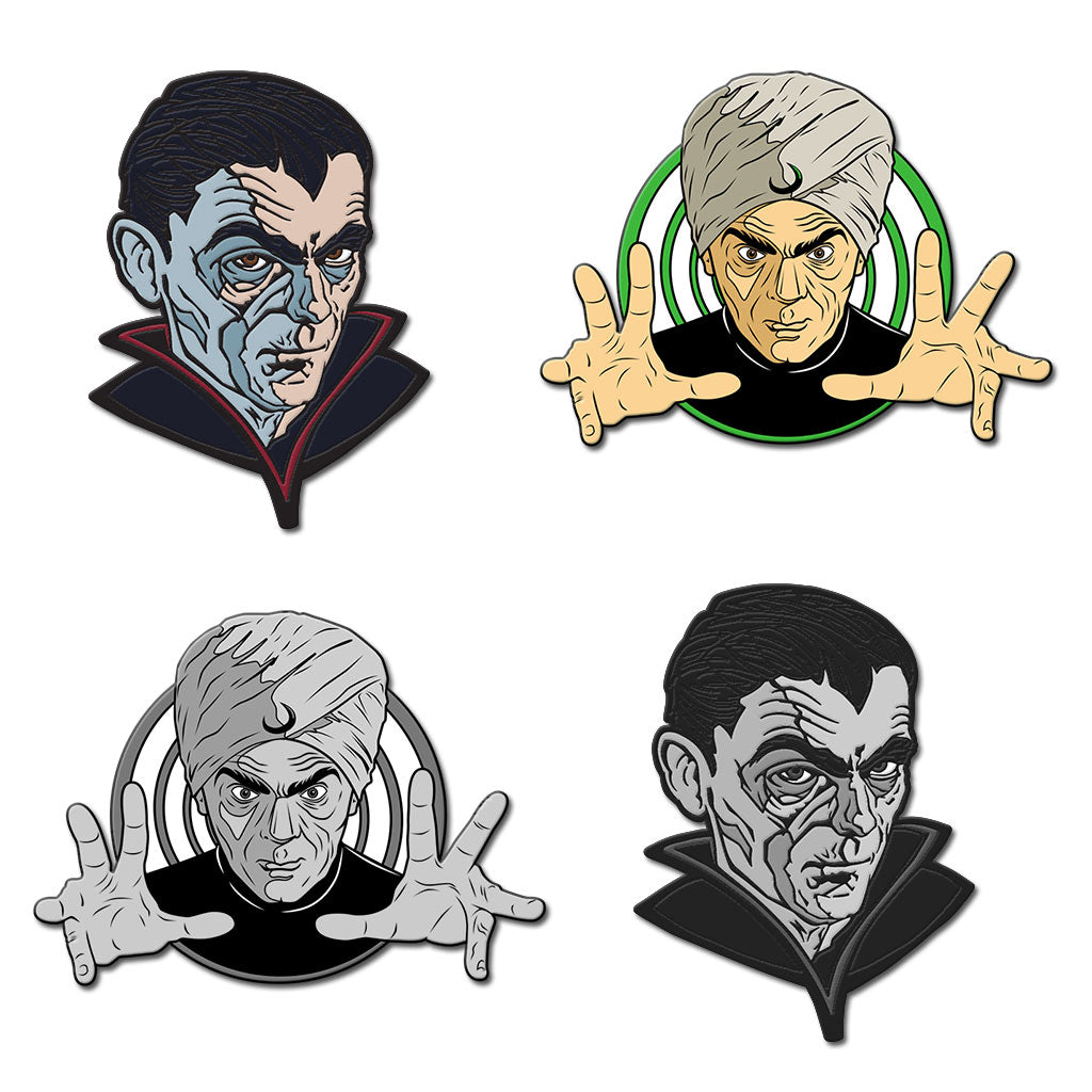 Boris Karloff Enamel Pin (Set of 4) - Dystopian Designs