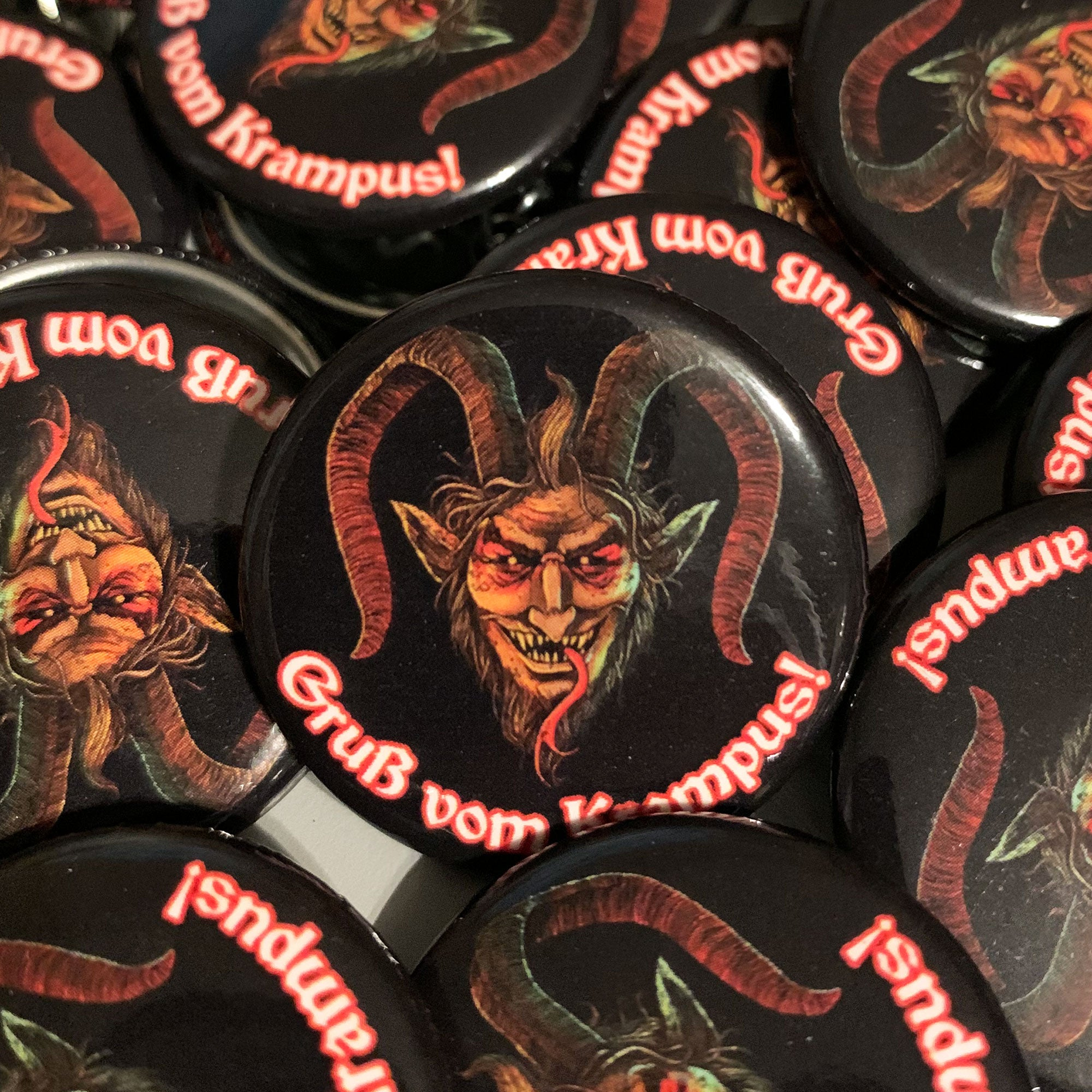 Krampus Button - Dystopian Designs