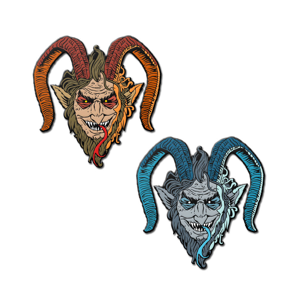 Krampus Enamel Pin (Set of Two) - Dystopian Designs