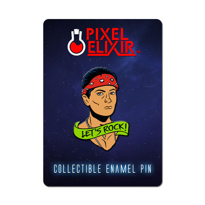 Let's Rock Enamel Pin - Dystopian Designs