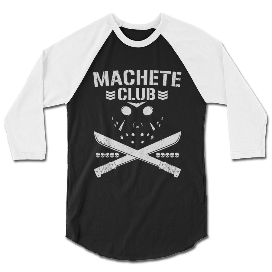 Friday the 13th Machete Club Bullet Club Parody Baseball T-Shirt