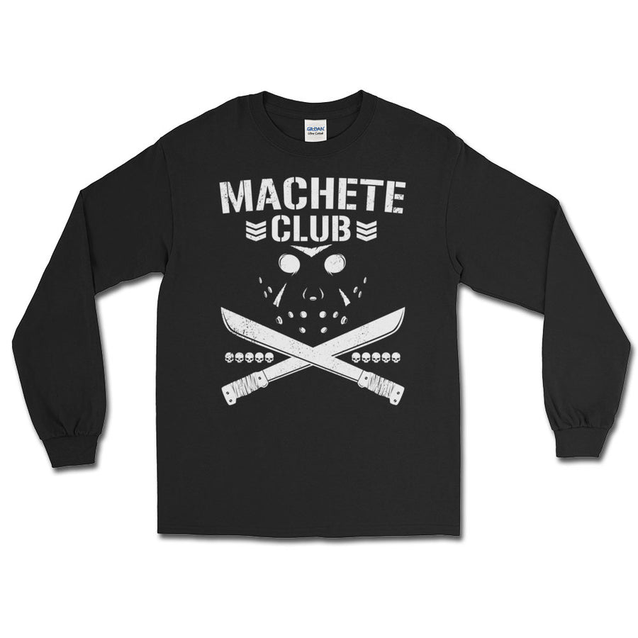 Friday the 13th Machete Club Bullet Club Parody Long Sleeve T-Shirt