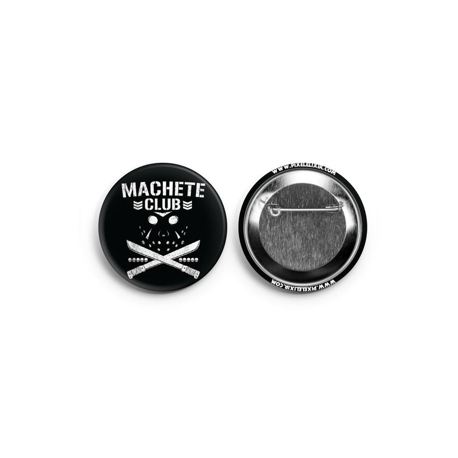 Machete Club Bullet Club Friday the 13th Pinback Button