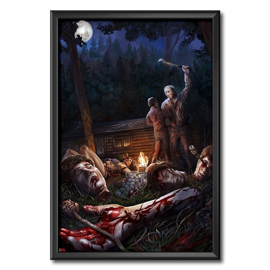 Friday the 13th Part III Jason Voorhees Original Artwork Giclee Print Horror Art