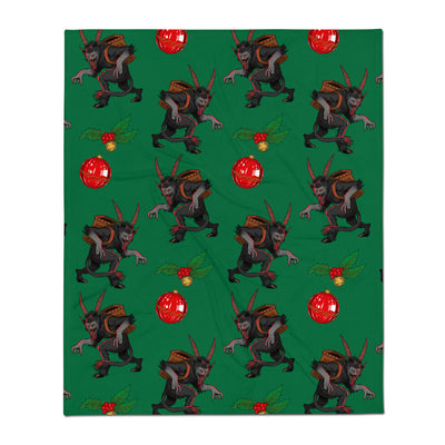 Merry Krampus Throw Blanket