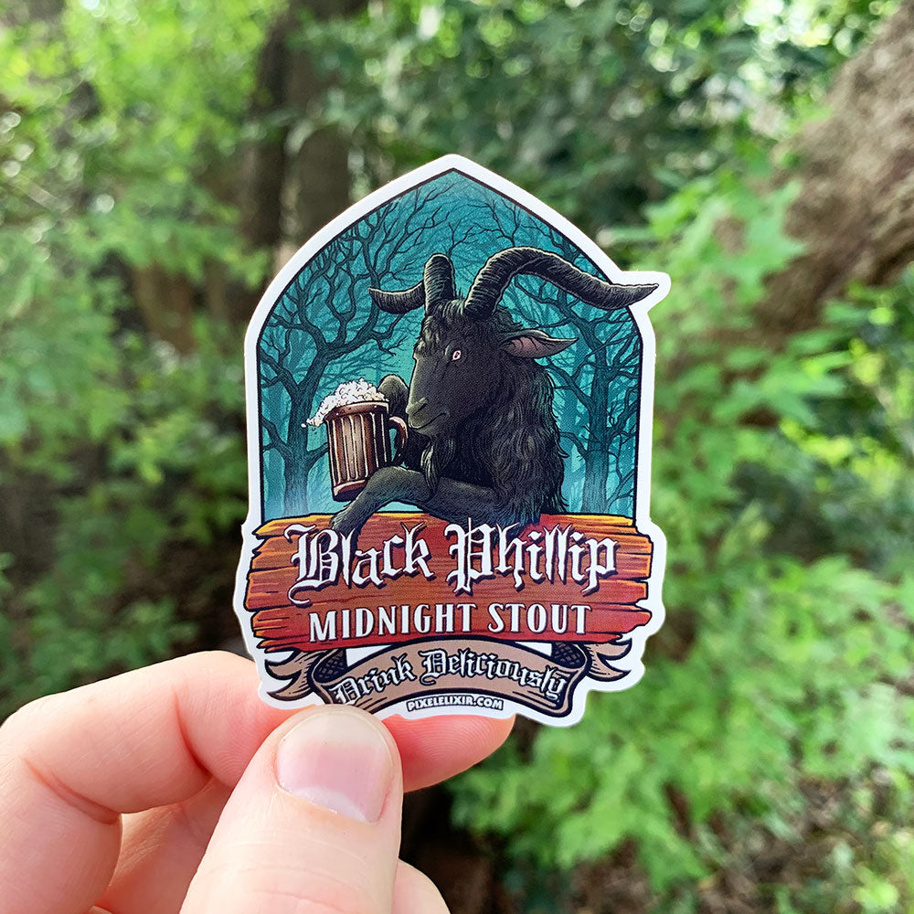 Black Phillip Midnight Stout Vinyl Sticker