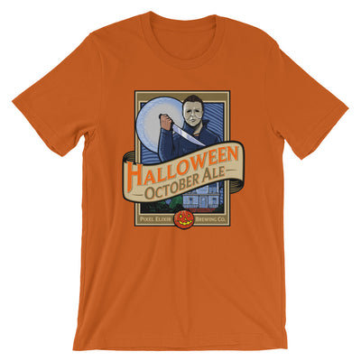 Halloween October Ale T-Shirt - Pumpkin Orange - Dystopian Designs