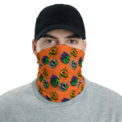 "Radballs ""Happy Halloween"" Face Mask/Neck Gaiter - Orange - Dystopian Designs"