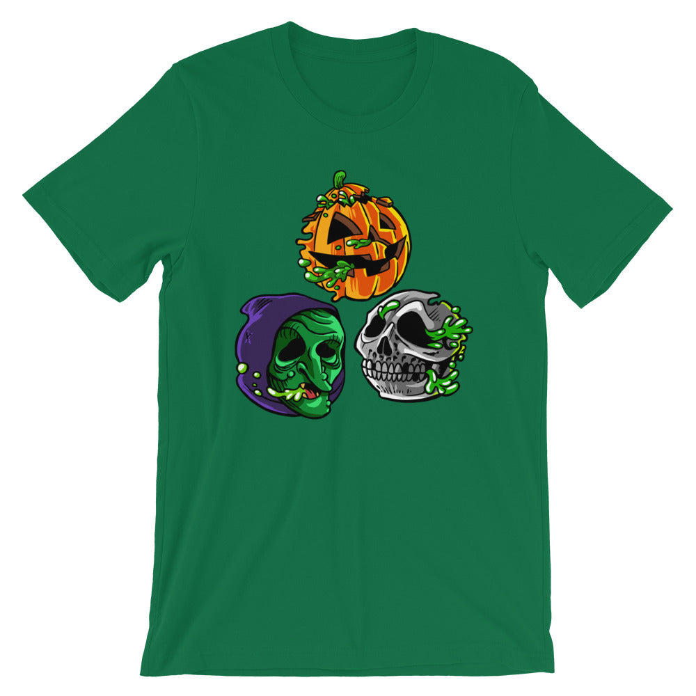 "Radballs ""Happy Halloween"" Shamrock Green T-Shirt"