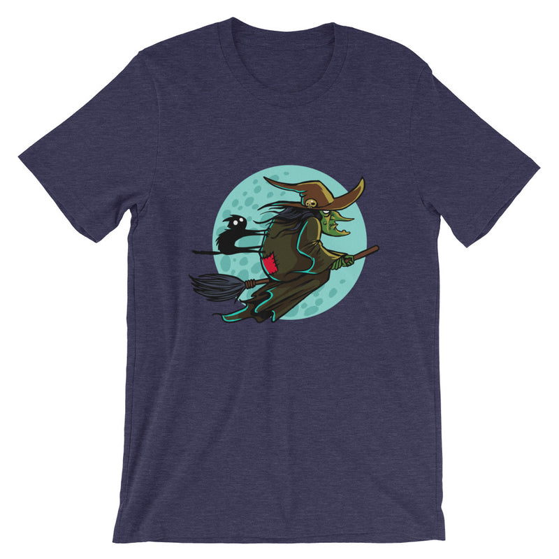 Frightful Folklore Flying Witch T-Shirt - Dystopian Designs