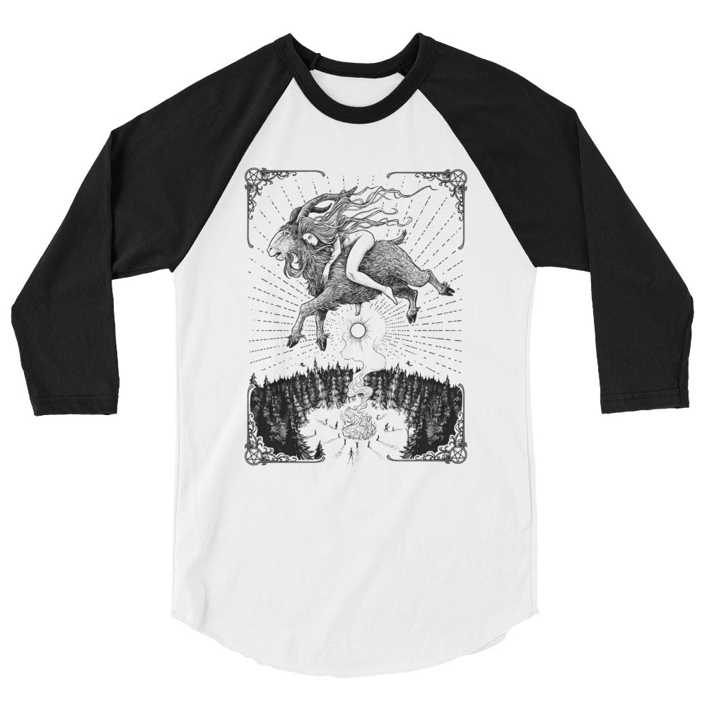 "Häxan ""Flying"" Baseball Shirt - Dystopian Designs"