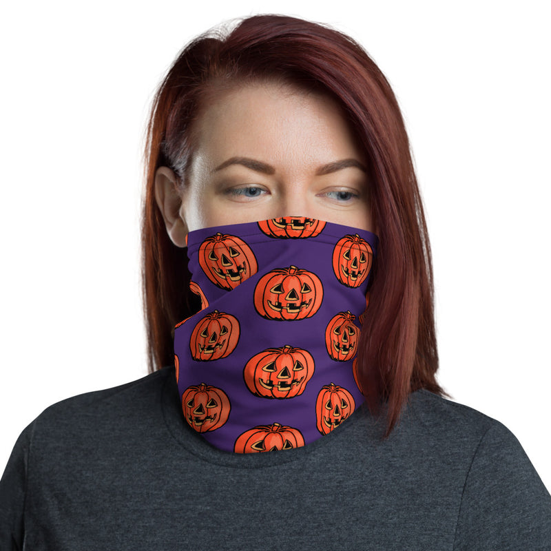 Grinning Jack Face Mask/Neck Gaiter - Purple - Dystopian Designs