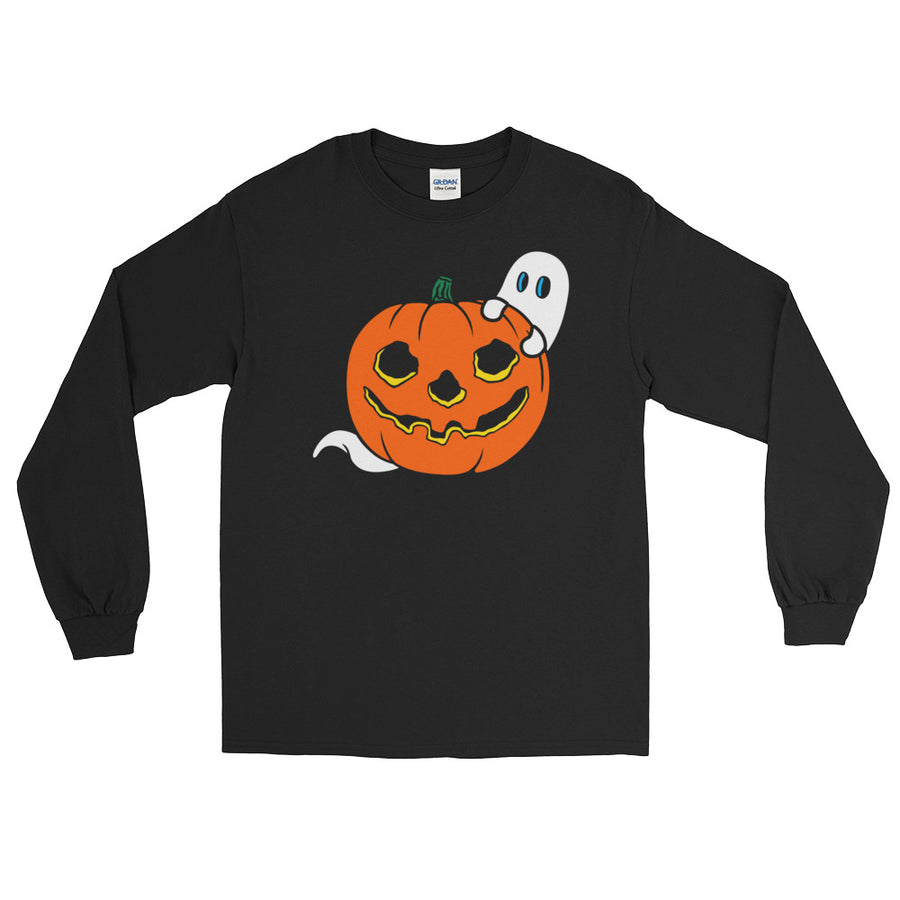 Peek-a-Boo Vintage Halloween Long Sleeve T-Shirt - Dystopian Designs