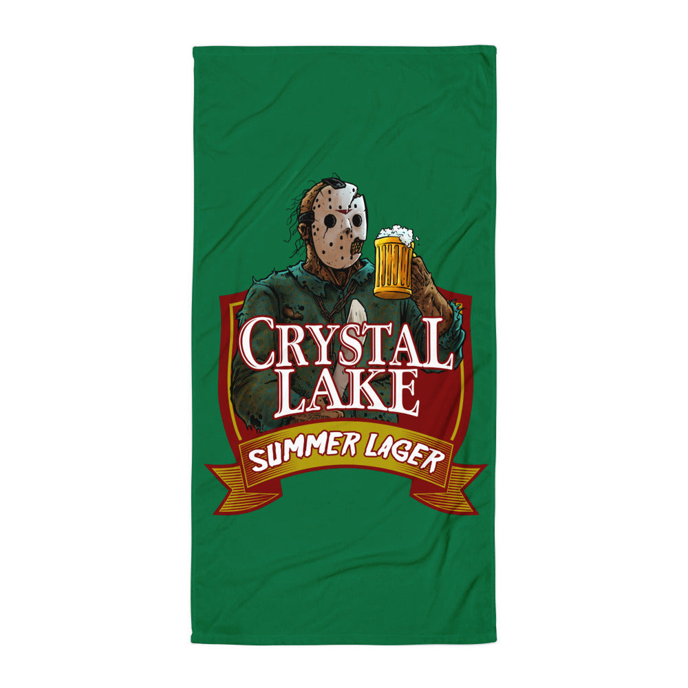 Crystal Lake Summer Lager Beach Towel