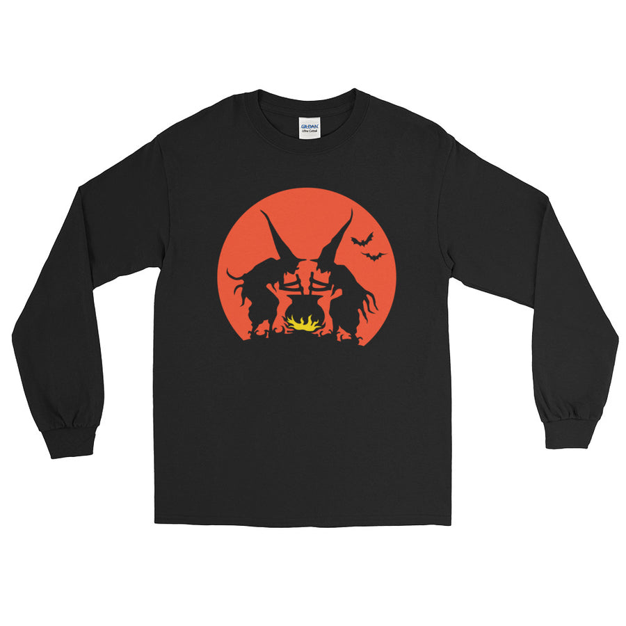 Witches' Brew Vintage Halloween Long Sleeve T-Shirt - Dystopian Designs