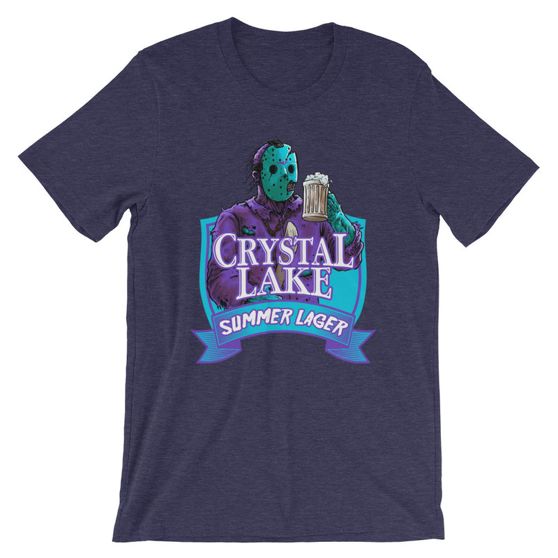 Crystal Lake Summer Lager Retro Midnight Blue T-Shirt - Dystopian Designs