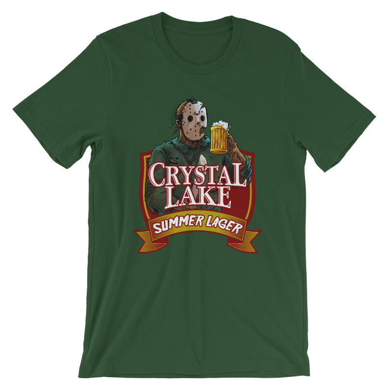 Crystal Lake Summer Lager Forest Green T-Shirt - Dystopian Designs