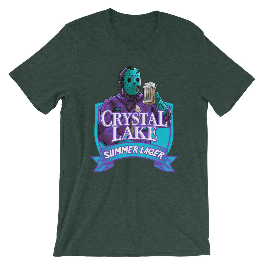 Crystal Lake Summer Lager Retro Forest Green T-Shirt - Dystopian Designs