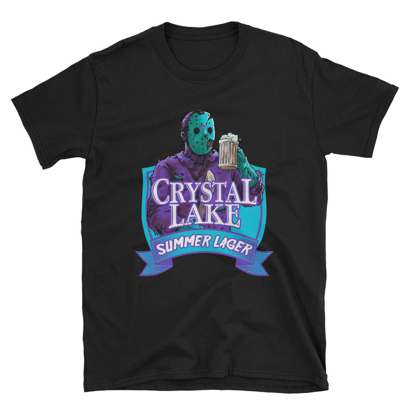 Crystal Lake Summer Lager Retro T-Shirt - Dystopian Designs