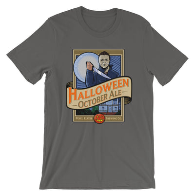 Halloween October Ale T-Shirt - Tombstone Gray - Dystopian Designs