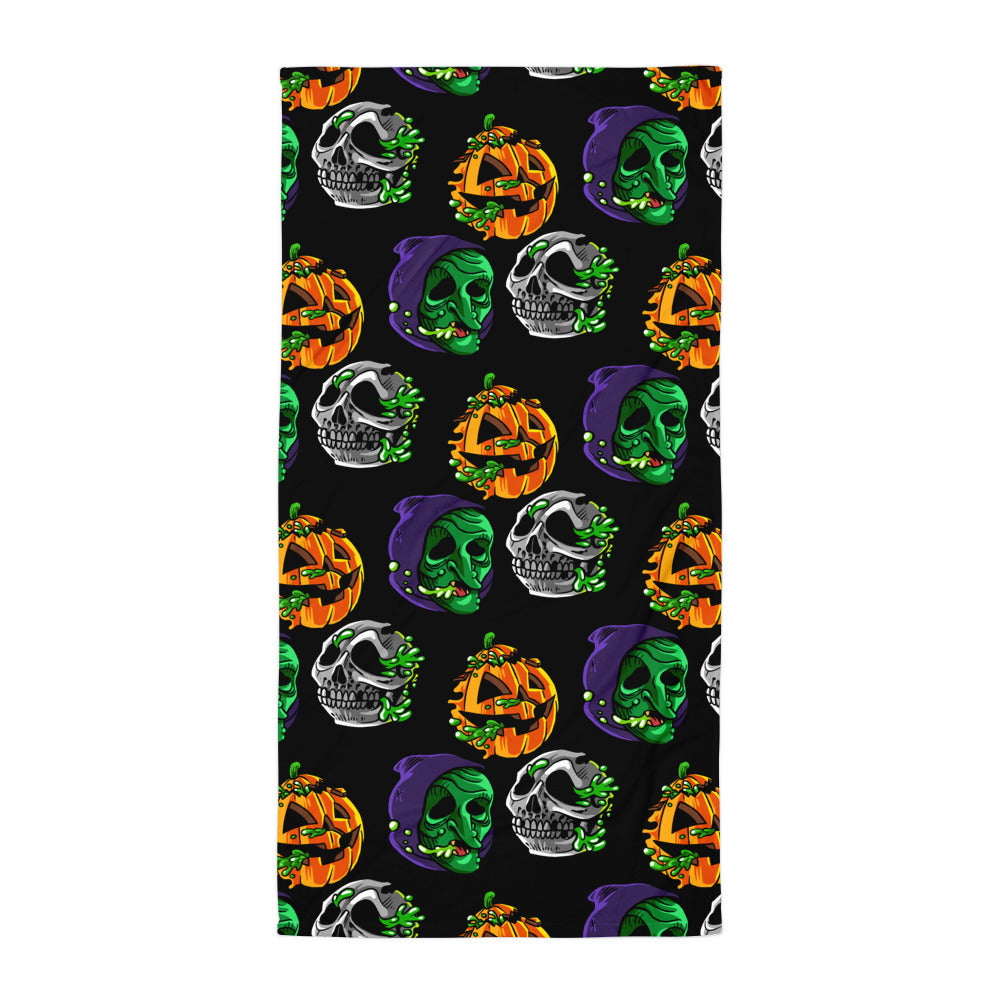 Radballs Happy Halloween Beach Towel