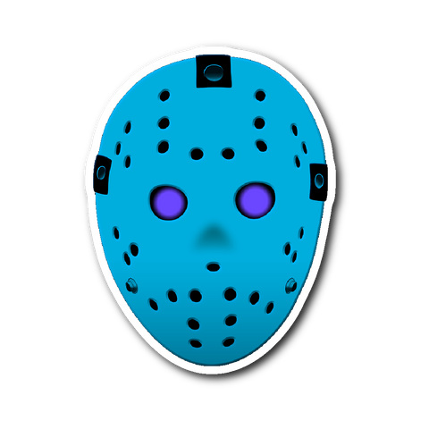 "Friday the 13th Jason Retro NES 3""x4"" Sticker"