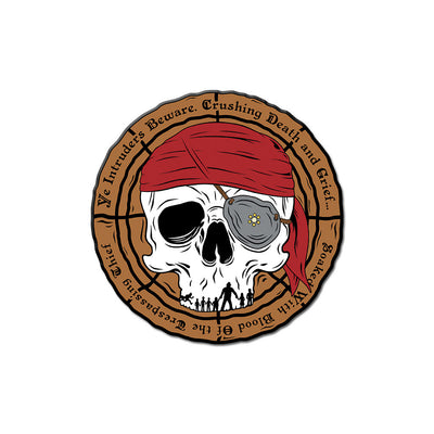 Pirate's Curse Enamel Pin - Dystopian Designs