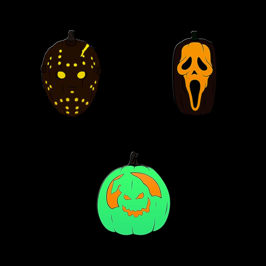 Petrifying Pumpkins Enamel Pins (Set of 3) - Dystopian Designs